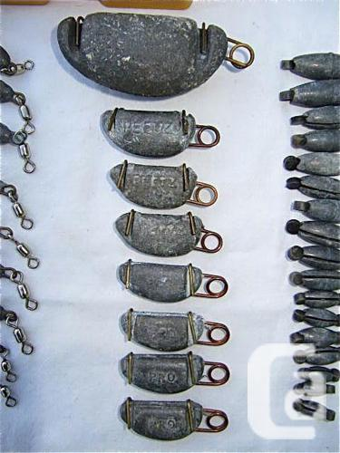 Fishing gear weights for sale in victoria british for Fishing gear for sale