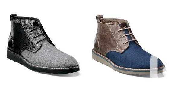 FLORSHEIM Mens HIGHLANDS CHUKKA Leather Wool Boots