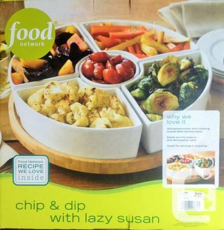 Food Network 6-pc. Lazy Susan Chip & Dip Set - $32