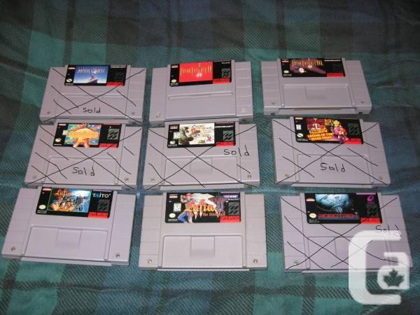 For Sale: NES and SNES games, updated prices