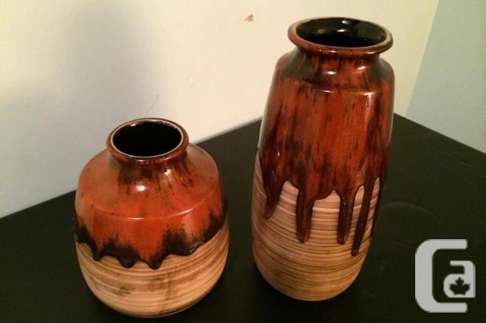 FRESH COST - Classic Pottery Vases (1970s, 2 items,