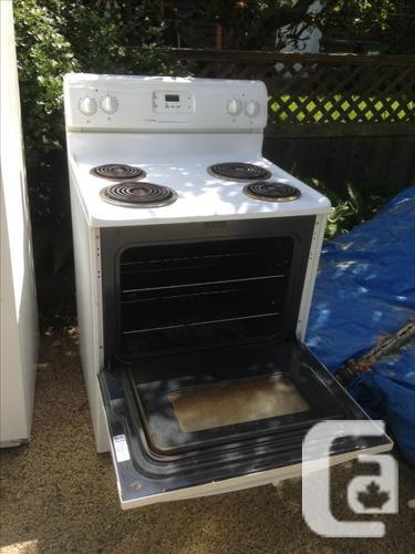 Fridge, stove and apt-sized dishwasher