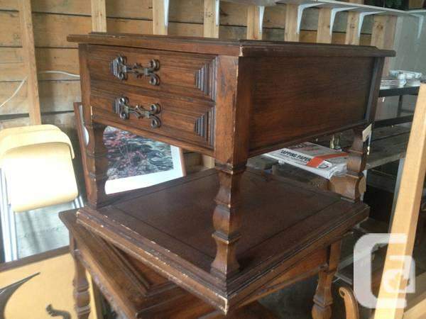 fruitwood side table - $20