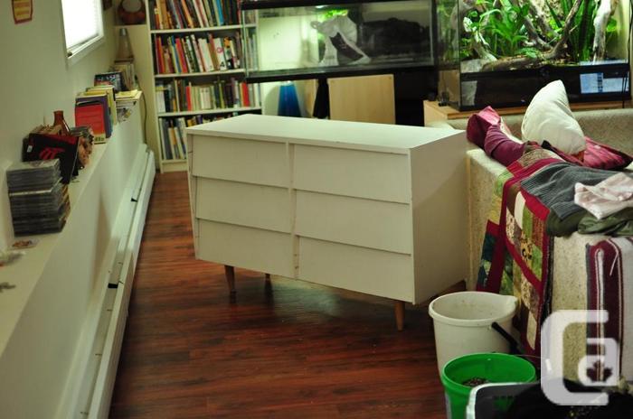 funky white dresser