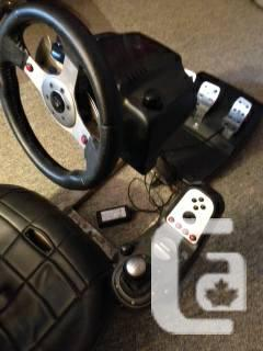 G27 WHEEL AND COMPETITION SEAT FOR PS3 AND Computer -