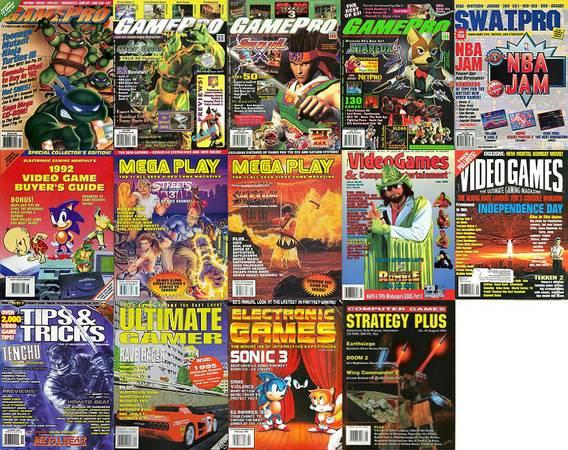 Gamepro, EGM2, Game Players, more Video Game Magazines