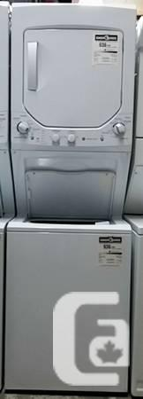 GE Spacesaver Stacked Washer Dryer, Like New 12 month