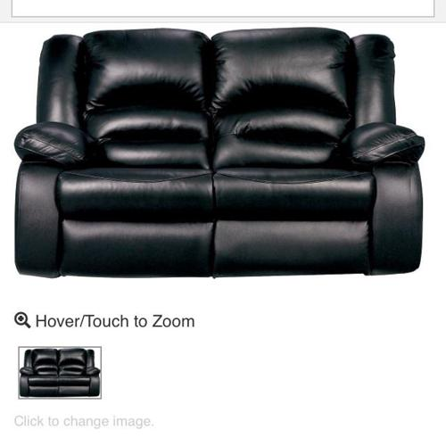 Genuine black leather reclining couches for sale in sooke for Couch sofa for sale bc