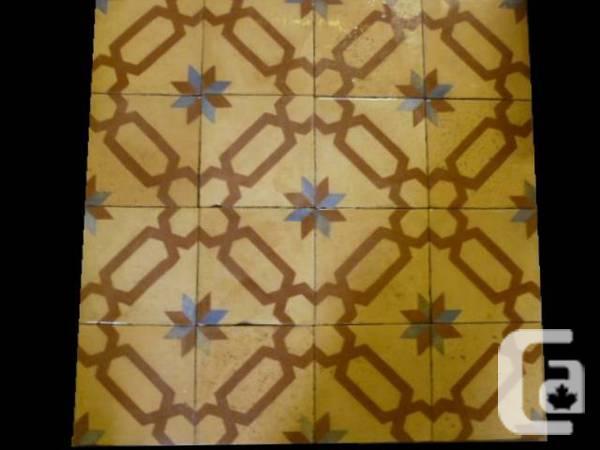 Genuine spanish encaustic floor tiles - $7