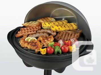 GEORGE FOREMEN INDOOR OUTDOOR BBQ GRILL LIKE NEW - $80