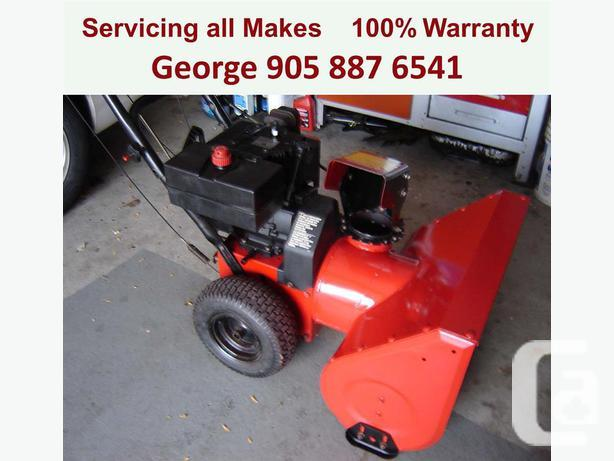 George's Mobile SnowBlower Repair Home Service