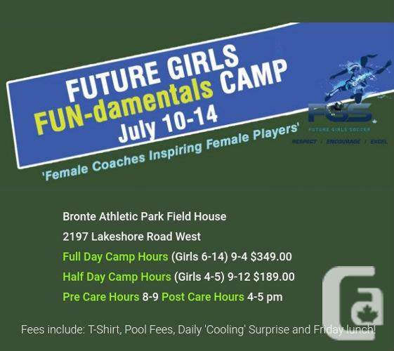 Girls Soccer Summer Camp Lakeshore, Ontario | Future