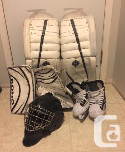 Goalie equipment available rbk eddy