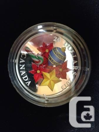 Gold Coin - Holidays MURANO Glass Candycane - $170