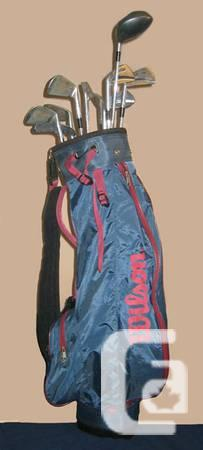 Golf Clubs & Bag -- Solid Men's Left-Handed - $50