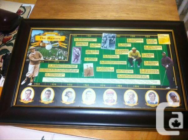 Golf Masters 1930-2000 Framed Souveneir - $175