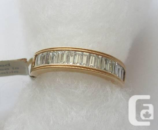 Good Band with 0.99 ctw Diamonds in 14K Gold - $1475