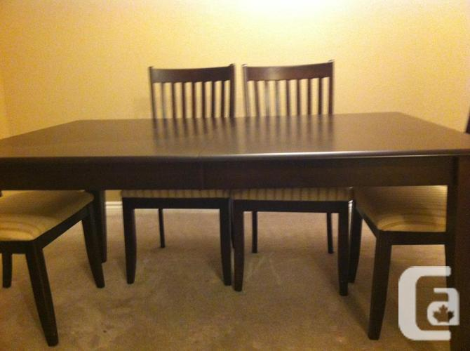 Gorgeous Dark Wood Dining Table For Sale In Victoria
