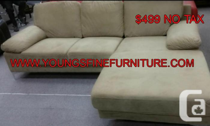GRAND OPENING SALE 2PCS SECTIONAL FABRIC 499 NO TAX,