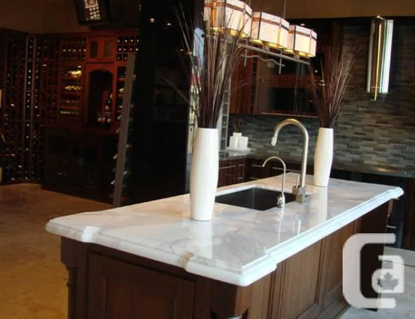 Granite marble quartz cabinets sinks tiles faucets for for Kitchen cabinets quebec