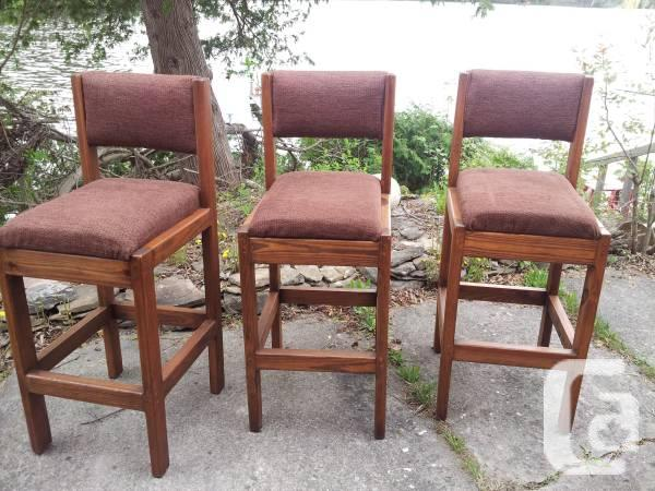 Group of 3 barstools - 5