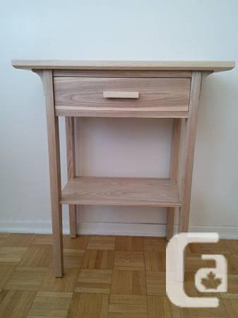 Hand-crafted ash solid wood end table - $120