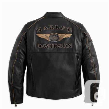 HARLEY DAVIDSON 110TH ANNIVERSARY LEATHER JACKET - $425