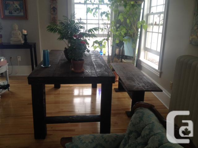 Harvest Table & Bench 6'x3'