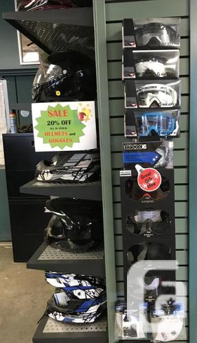 HELMETS AND GOGGLES 20% OFF