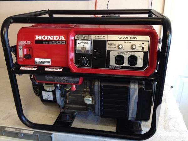 Honda em2500 generator for sale in vancouver british for Yamaha generator canada