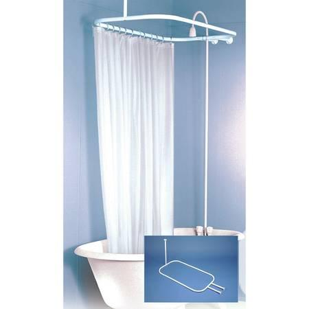 Hoop Shower Curtain Rod Goes All Around Tub   $55