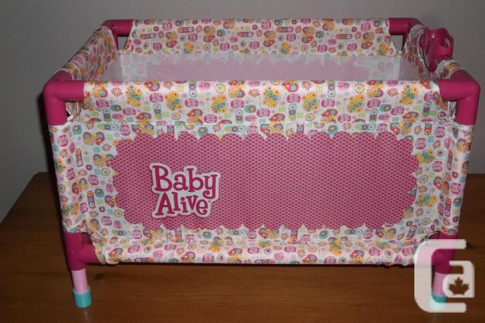 I have 3 baby alive dolls and 1 playpen for sale