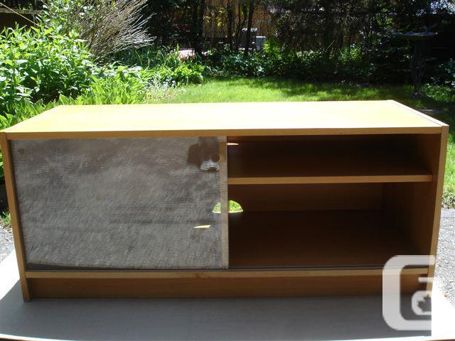 Ikea Benno Tv Stand Media Storage Unit With Sliding Glass Doors
