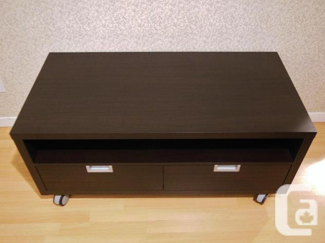 Ikea BESTA JAGRA TV Bench Stand on Castors- Black Brown