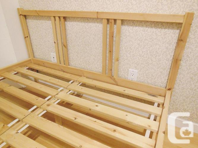 Ikea FJELLSE Bed Frame with Slats - Solid Pine - Full