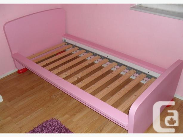 IKEA Pink MAMMUT Bed frame with slatted bed base - $150
