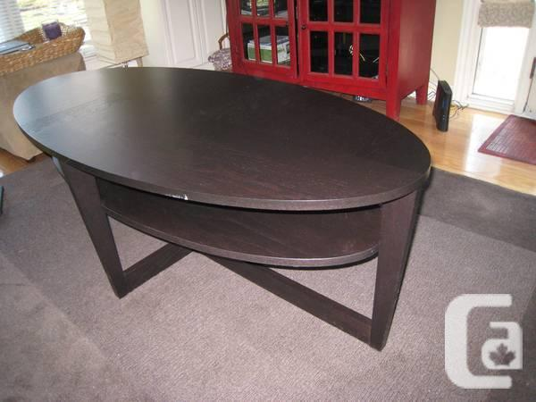 Ikea vejmon coffee table black brown for sale in for Coffee tables london ontario