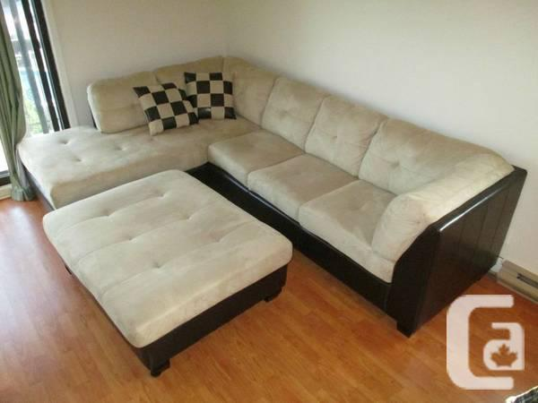Impeccable sectional set micro suede for sale in for Sofa sectionnel en liquidation