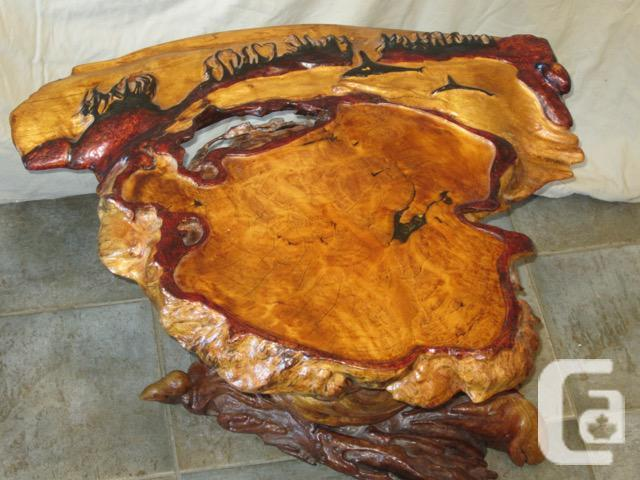 Incredible carved Burl Table