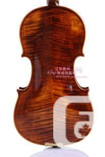 Violin: intermediate level, hand-made, tiger-skin