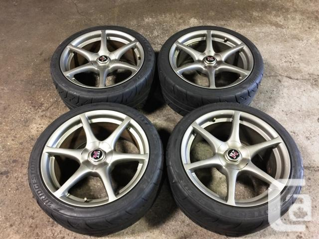 JDM NISSAN SKYLINE GTR R34 WHEELS MAGS WITH TIRES 18