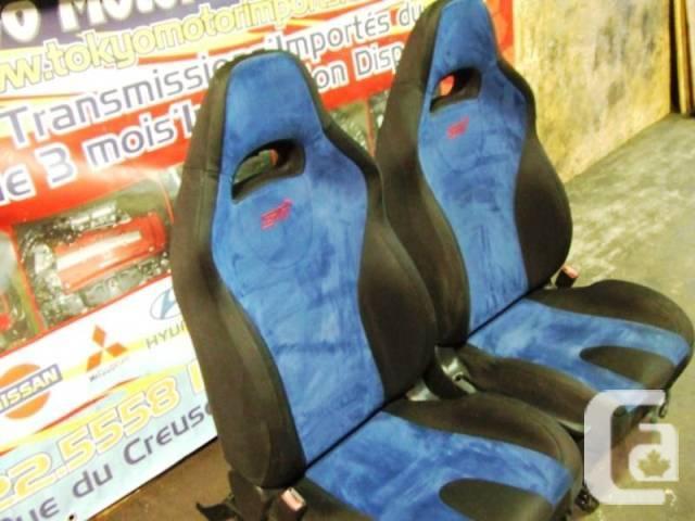 JDM SUBARU WRX STI FRONT SEATS VERSION 7 AND 8 BLUE