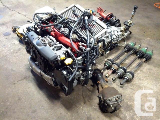JDM SUBARU WRX STI VERSION 8 EJ20T TURBO VF37 MOTOR MT
