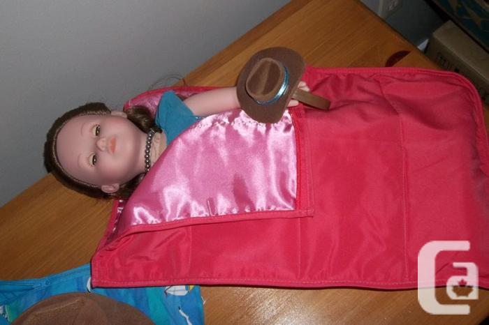 Journey girl,Doll,horse and sleeping bag.