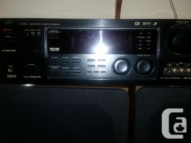 JVC-RX888V Receiver. 2 Telefunken Studio 70 speakers.