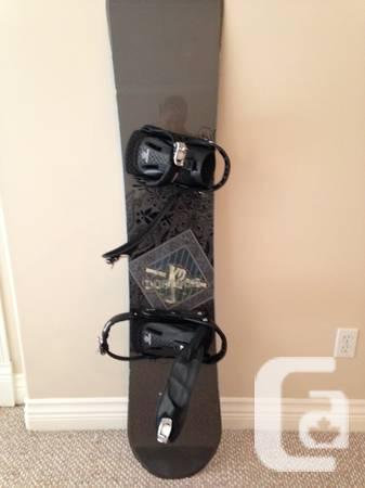 K2 Brigade 158 snowboard with Salomon bindings - $280