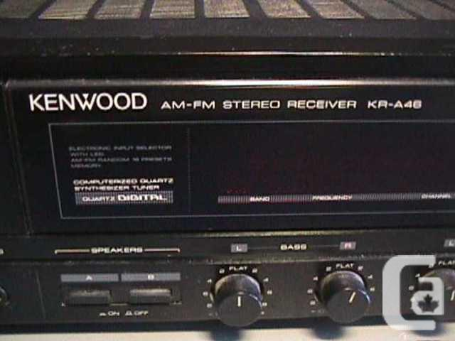 KENWOOD AM/FM STEREO TUNER AMPLIFIER RECEIVER