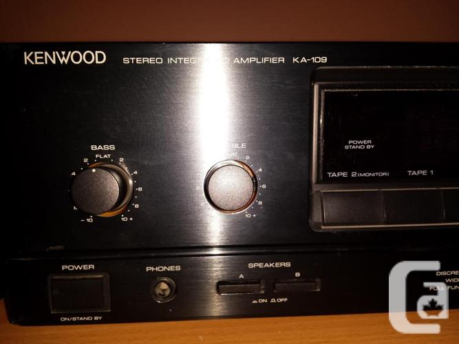 kenwood intergrated stereo amplifier