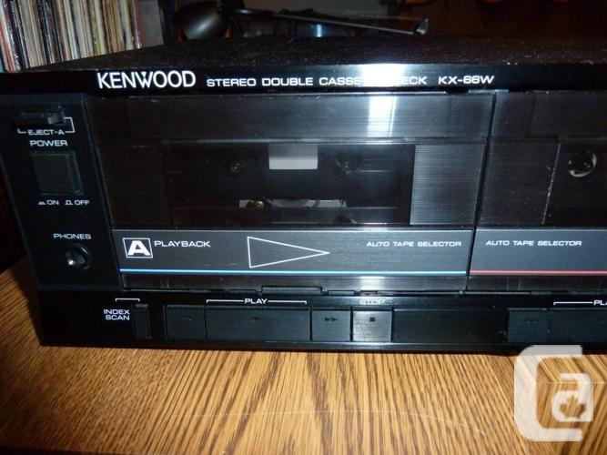 Kenwood Stereo Double Cassette Deck KX-66W