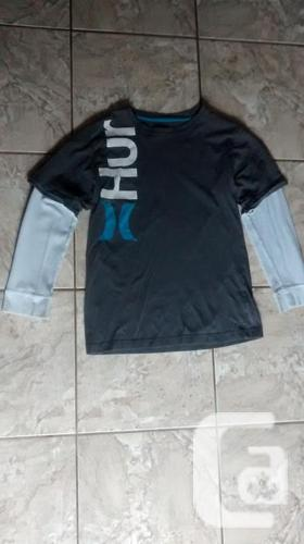 Kids Long Sleeve Grey Hurley Top -Size XL (14-16)